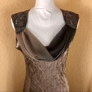 Stunning Komarov handmade beaded occasion dress